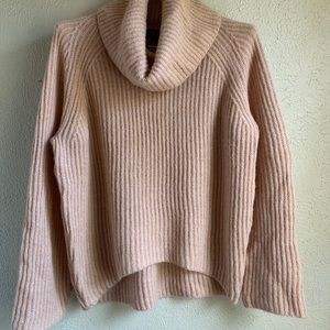 J. Crew Point Sur Ribbed Turtleneck Cowl Sweater